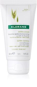Klorane Oat Milk condicionador suave condicionador suave  para lavagem frequente de cabelo