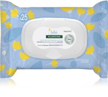 Klorane Bébé Calendula salviette detergenti delicate per neonati