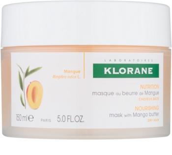 Klorane Mango Maske mit ernährender Wirkung für trockenes und beschädigtes Haar