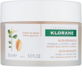 Klorane Desert Date Maske mit ernährender Wirkung für brüchiges und strapaziertes Haar