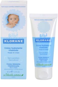 Klorane Bébé hydratačný krém na tvár a telo