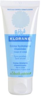 Klorane Bébé creme hidratante para rosto e corpo