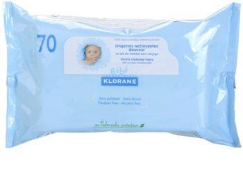 Klorane Bébé очищуючі серветки для дітей