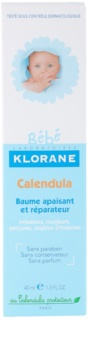 Klorane Bébé Calendula заспокоюючий бальзам без парабену