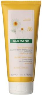 Klorane Chamomile balsamo illuminante per capelli biondi
