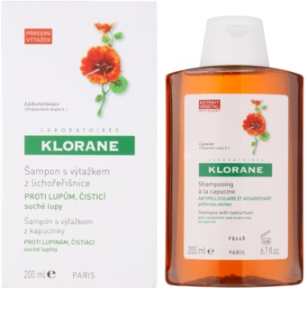 klorane nasturtium shampoo gegen trockene schuppen. Black Bedroom Furniture Sets. Home Design Ideas