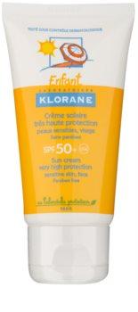 Klorane Kids дитячий крем для засмаги SPF 50+