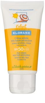 Klorane Kids creme bronzeador para crianças  SPF 50+