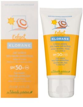 Klorane Kids  дитячий крем для засмаги SPF50+