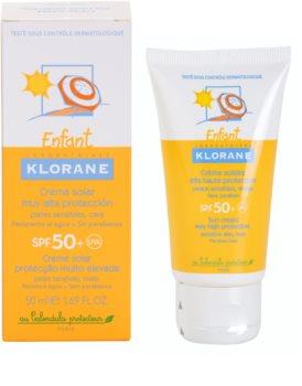 Klorane Kids  creme bronzeador para crianças  SPF50+