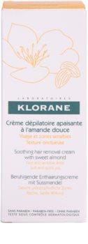 Klorane Hygiene et Soins du Corps upokojujúci depilačný krém na tvár a citlivé miesta