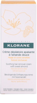 Klorane Hygiene et Soins du Corps zklidňující depilační krém na obličej a citlivá místa