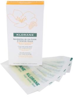 Klorane Hygiene et Soins du Corps benzi depilatoare cu ceara rece pentru fata si zonele sensibile ale pielii