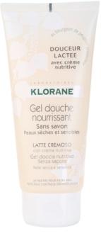Klorane Hygiene et Soins du Corps Douceur Lactee поживний гель для душу