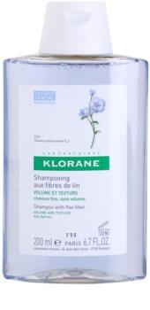 Klorane Flax Fiber champô para cabelo fino e sem volume