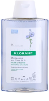 Klorane Flax Fiber šampón pre jemné vlasy bez objemu