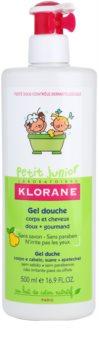 Klorane Junior gel de dus pentru corp si par cu aroma de pere cu arome de pere