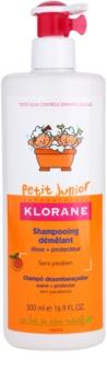 Klorane Junior дитячий шампунь з ароматом персика