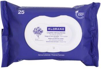 Klorane Cornflower chusteczki oczyszczające