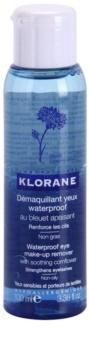 Klorane Cornflower desmaquillante de ojos bifásico para fortalecer las pestañas