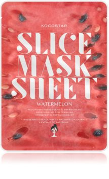 KOCOSTAR Slice Mask Sheet Watermelon Uppljusande och fuktgivande arkmask