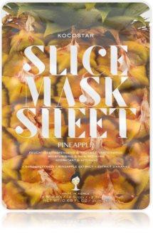 KOCOSTAR Slice Mask Sheet Pineapple тканинна маска для обличчя зі зміцнюючим ефектом