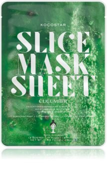 KOCOSTAR Slice Mask Sheet Cucumber Calming Face Sheet Mask with Moisturizing Effect