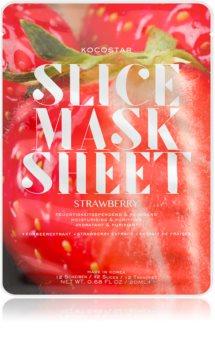 KOCOSTAR Slice Mask Sheet Strawberry Moisturising face sheet mask For Radiant Looking Skin