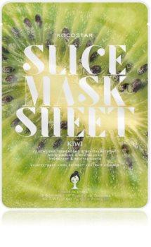 KOCOSTAR Slice Mask Sheet Kiwi Brightening Face Sheet Mask with Vitamine C