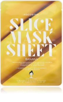 KOCOSTAR Slice Mask Sheet Banana hranjiva sheet maska za sjajni izgled lica