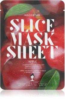 KOCOSTAR Slice Mask Sheet Apple szövet arcmaszk az arcbőr élénkítésére és vitalitásáért