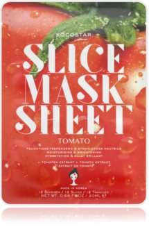 KOCOSTAR Slice Mask Sheet Tomato Brightening and Moisturising Sheet Mask