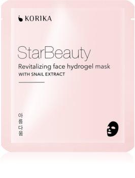 KORIKA StarBeauty mască revitalizantă cu hidrogel, cu extract din melcidin melci