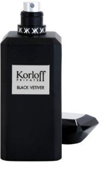 Korloff Private Black Vetiver Eau de Toilette unissexo 88 ml