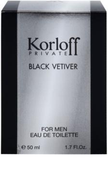 Korloff Korloff Private Black Vetiver toaletní voda unisex 50 ml