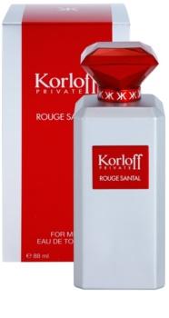 Korloff Private Rouge Santal Eau de Toilette unisex 88 ml