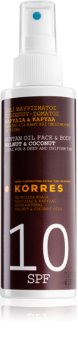 Korres Walnut & Coconut olio abbronzante in spray SPF 10