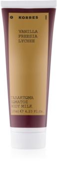Korres Vanilla, Freesia & Lychee Body Lotion for Women 125 ml