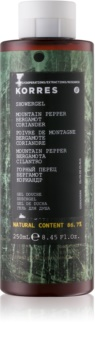 Korres Mountain Pepper, Bergamot & Coriander sprchový gel pro muže 250 ml