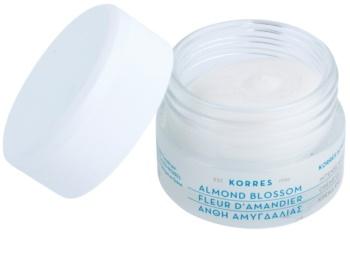 Korres Almond Blossom creme hidratante e nutritivo para pele seca a muito seca