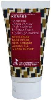 Korres Almond Oil & Shea Butter поживний крем для рук