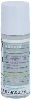 Korres Equisetum Fragrance Free Deodorant Roll-On 48h
