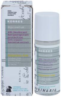 Korres Body Equisetum desodorante roll-on sin perfume 48h