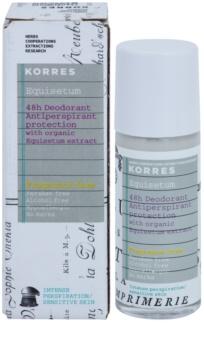 Korres Equisetum deodorant roll-on fara parfum 48 de ore
