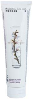 Korres Almond & Linseed mascarilla nutritiva para cabello seco y dañado