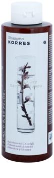 Korres Almond & Linseed champô para cabelos secos e danificados