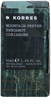 Korres Mountain Pepper, Bergamot & Coriander eau de toilette para hombre 50 ml