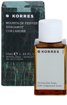 Korres Mountain Pepper, Bergamot & Coriander eau de toilette pour homme 50 ml