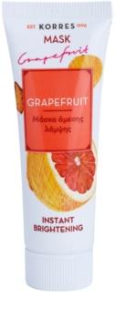 Korres Mask&Scrub Grapefruit rozjasňující maska s okamžitým účinkem