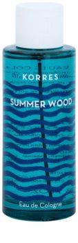 Korres Summer Wood kolinská voda unisex 100 ml